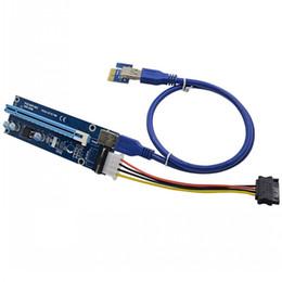 Cabos expressos pci on-line-PCIe PCI-E PCI Express Riser Card 1x a 16x USB 3.0 cabo de dados SATA para 4Pin IDE Molex fonte de alimentação para BTC Miner máquina DHL frete grátis