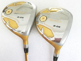 Wholesale Beres Golf Clubs - 4 Star Honma S-05 Fairway Woods Honma Beres S-05 Woods Golf Clubs #3 #5 R S-Flex Graphite Shaft With Head Cover
