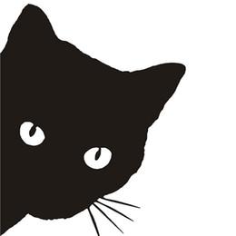 Wholesale Pet Doors - Car-styling Car Sticker 12*15CM CAT FACE PEERING Car Sticker Decals Pet Cat Motorcycle Decorative Stickers Car Window Decals