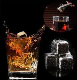 enfriadores de acero inoxidable Rebajas Nuevo 304 Whisky Stones de Acero Inoxidable Cubitos de Hielo Rocas Enfriador Enfriamiento Enfriamiento IcestoneCubitos De Hielo Y Enfriadores I100