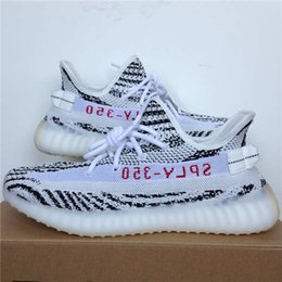 Wholesale Newest Snow Boots - 2017 Discount Kanye West SPLY-350 Boost V2 Zebra CP9654 Zebras Newest Lows Man Woman Sneakers BRED Beluga Sports Running Shoes With Box