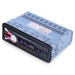 Wholesale Free Electronic Radio - Wholesale- 2016 New Arrivals 1188B Removable Panel 12V Bluetooth Stereo FM Radio Car MP3 Audio Player Hands-free Electronics Subwoofer