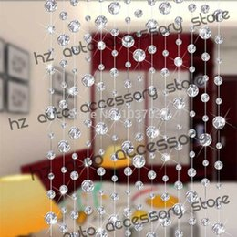 Wholesale Glass Door Beads - Sheer Curtains 1611 free shipping 10 meters glass crystal beads curtain window door curtain passage wedding backdrop