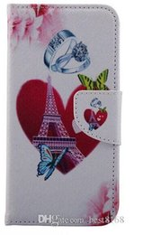 Wholesale Tower Case Stand - Wallet Leather Cases For Samsung Galaxy S7  S7 Edge Eiffel Tower Flower Butterfly Flip Cover Stand+Holder Money Pocket Card Slot Ring Heart
