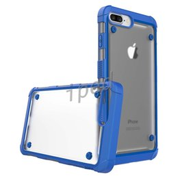 Wholesale Iphone Bumper Case Cheap - High quality Hybrid Transparent Hard Back Bumper Case TPU PC shockproof anti-shock protective Cover For iPhone 7 7plus 6 6s + opp bag cheap
