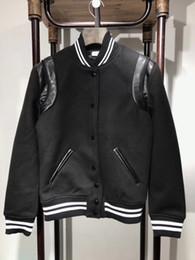 Wholesale New Men Jacket Designer Coat - High Quality Leather Jacket Men New Brand Autumn Designer Fashion Stand Collar PU Baseball uniform Jackets Flying Pilot Coats