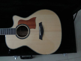 Wholesale Acoustic Color - 41'acoustic guitar Solid spruce top and solid rosewood back&side with fishman 4 band EQ natural color in stock High quality