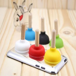 Wholesale Mini Plunger Phone - Cheapest Colorful New design Mini rubber plunger suction Cup Sucker holder Plunger Rubber Sucker Stand Case For Cell Phone MP3 Player