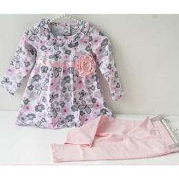 2020 chándal niño al por mayor Al por mayor-niña bebé ropa floral conjunto niño recién nacido traje de algodón niños niña trajes primavera chándal conjunto de ropa infantil rebajas chándal niño al por mayor