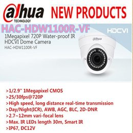 """Wholesale Water Proof Hd Cameras - DAHUA 1 2.9"""" CMOS IP67, DC12V, 1Megapixel 720P Water-proof Smart IR HDCVI Dome Camera HAC-HDW1100R-VF free shipping"""