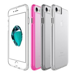 Wholesale For Iphone Case Transparent Clear Hybrid Bumper Shockproof Case Cover Phone Accessories For Iphone plus s plus