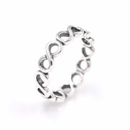 Wholesale infinite gifts - Infinite Shine ring women's S925 sterling silver fits for pandora style bracelet and charms jewellery Free Shipping