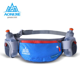 Wholesale Fanny Pack Water Bottle - Wholesale- AONIJIE Running Hydration Belts Bottle Holder Belt Reflective Running Water Belt Fanny Pack Men Women Waist Packs