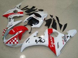 Wholesale Yamaha Motorcycle Kits - New ABS fairing kit FOR Yamaha YZF R6 2003 2004 2005 YZF-R6 03 04 05 YZFR6 600 03-05 motorcycle bike fairings set red white