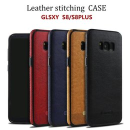 Wholesale Soft Shell Red - For Samsung Galaxy S8 S8Plus case New Business Leather Pattern Stitching Phone Case TPU Soft Shell full protection Anti-drop Case