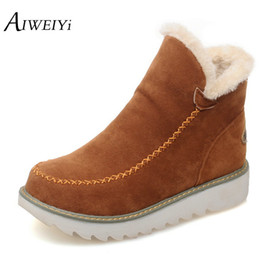 Wholesale Tassel Ankle Boots For Women - Wholesale-Big Size 34-43 Women Ankle Boots Flock Round toe Gladiator Shoes Women Fur Warm Autumn Winter Shoes for Women Snow Boots Botas