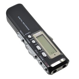 rechargeable mini mp3 Coupons - Wholesale- High Quality 8GB Mini VOR digital Audio Voice Recorder Rechargeable Voice Activated Dictaphone with MP3 Player WAV Recordin