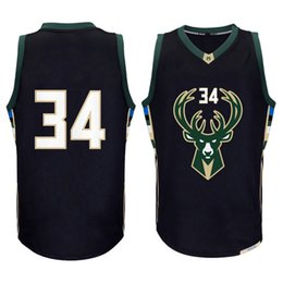 Wholesale Embroidery Jerseys - men new 34# Giannis Antetokounmpo jersey #12 Jabari Parker basketball jerseys High quality embroidery logos fast free shipping