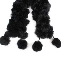 Wholesale Pashmina Fur - Wholesale- HOT Rabbit Fur Soft Winter Collar Neck Warmer Scarf Wrap Black Shawl