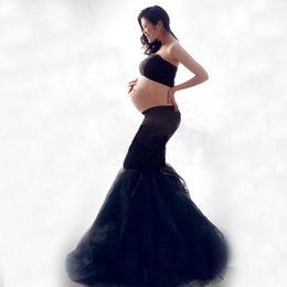Wholesale Lace Dress For Pregnancy Women - New Maternity Photography Props clothing for pregnant women Mermaid Dress Pregnancy black Romantic set Princess Free shipping