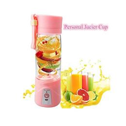 Paquete de verduras online-Portable Juicer Fruit Juicer Vegetable Citrus Blender Juicer Con Cable de cargador USB y paquete al por menor