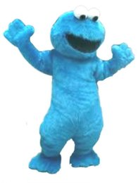 Wholesale Elmo Adult Mascot - BLUE elmo Mascot Costumes Cartoon Character Adult Sz 100% Real Picture