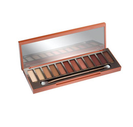 Wholesale Newest Waterproof Case - Newest Naked Eyeshadow Palette 12 Colors Professional Makeup Case NK Cosmetics set Make up Set With Makeup Brushes Hot Heat By DHL