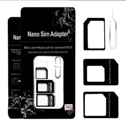 Wholesale Sim Adapter For Sale - In stock Sim card sleeve restores 4 pieces of the nano cato sim card Factory direct sale DHL Free shipping