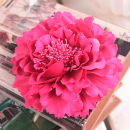 Wholesale Simulation Artificial Flower Camellia Rose - 13cm High quality Large Silk Peony Flower Heads Wedding Party Decoration Artificial Simulation Silk Peony Camellia Rose Flower Wall Wedding