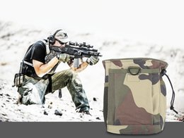 Wholesale Recycled Tables - 8 Color Tactical Molle Recycling Bag Collection Debris Pouch Travel Hunting Storage Carrying Bag with Drawstring for Outdoor Camping +B