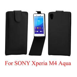 2019 sony xperia m4 telefone Handytaschen Cover für Sony Xperia M4 Aqua Handytasche Zurück Coque PU-Leder Flip Vertikale Up-Down Open Hauttasche günstig sony xperia m4 telefone