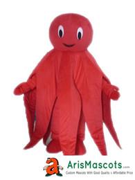 Trajes de mascote do oceano on-line-100% real fotos Red Octopus mascot costume mascote Mascot costume mascota outfit animais Mascote trajes da mascote personalizado