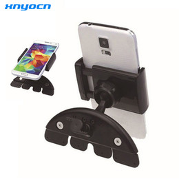 Wholesale Wholesale Black Cds - 5.5 Inch 60-90mm Adjustable ABS Universal Car CD Slot Phone Mount Holder Stand For Htc phone For iphone For Samsung S7 edge GPS