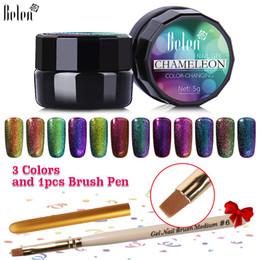 Wholesale Uv Inks - Wholesale- Belen UV Gel Nail Polish Chameleon Color UV LED Soak Off Paint Color Gel Ink UV Gel For Nails