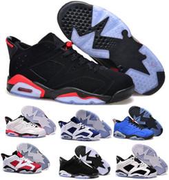 Wholesale Low Lifestyle - Best 6 Low Basketball Shoes Men Women Blue 6s VI Winter Chaussure Femme Homme Brand Original Sport Sneakers Size 36-47