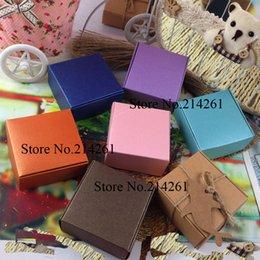 Wholesale Wholesale Soaps Wedding Favours - Wholesale-Wholesale 65x65x30mm Kraft Boxes Wedding Favour Packing Soap Plane box 8 Colours For CHoose