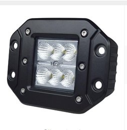 Wholesale Rectangle Cube - wholesale 4Inch 18W Work Light High Intensity CreeLed Chip Flush Mount Led Cube Offroad Light for 12v 24v Truck UTV SUV