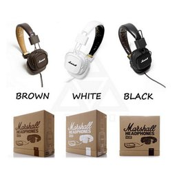 Wholesale Professional Ear Headphones - marshall major headphones clone with Mic deep bass DJ Hi-Fi Headphone HiFi Headset Professional DJ Monitor Headphone