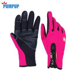Сенсорные перчатки для женщин онлайн-Wholesale- 2016 Winter Windstopper Outdoor Sports Female Gloves For Women Touchscreen Sensory Gloves Smartphone Fashion Cashmere Mittens