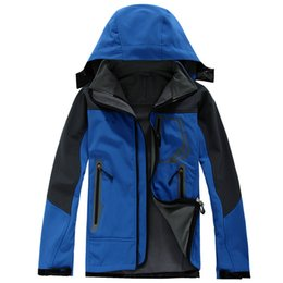 Wholesale Men Down Ski Jacket - Outdoor Winter Men's Hoodies SoftShell Jackets Fashion Apex Bionic Windproof Waterproof Thermal For Hiking Camping Ski Down Sportswear S-XX