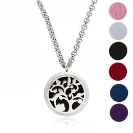 "Wholesale 316l Stainless Steel 24 - Aroma Jewelry 316L Stainless Steel Essential Oil Diffuser Lockets Necklace Locket Pendant with 24"" Chain and 6 Washable Pads"