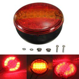 Wholesale Led Tail Light Assembly - 12 24V Universal LED Rear Tail Stop Indicator Light Round Truck Caravan E-marker