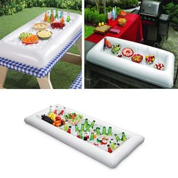 Wholesale Cooler Foods - Inflatable Salad Serving Buffet Bar Cooler Buffet Salad Food Fruit Drink Ice Buckets And Coolers Party Picnic Storage Trays Picnic Drink Tab