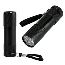 UV Ultra Violeta Blacklight 9 LED Linterna Antorcha Luz Exterior Mini LED Linterna 300LM LED Camping Linterna Antorcha Antorcha impermeable desde fabricantes