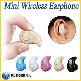 Wholesale Stealth Phone - Gold Sport Running S530 Mini Stealth Wireless Bluetooth 4.0 Earphone Stereo In-Ear Headphones Music Headset With Retail Box For Smart Phone