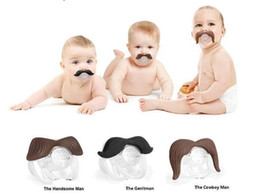 Wholesale Funny Pacifiers - Novelty Funny Mustache Baby Boy Girl Infant silicone Pacifier Orthodontic Dummy Beard Nipples BY0000