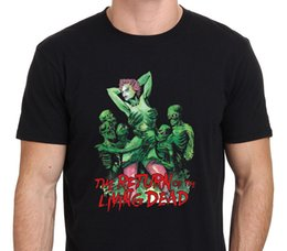 Wholesale M Live - Summer Sleeves Cotton T Shirt Fashion Casual Short O-Neck Mens Return Of The Living Dead 80'S Horror Movie Tee Shirts
