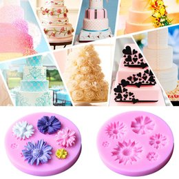 Wholesale Christmas Silicone Mold Wholesale - 3D Flower Silicone Mold Fondant Cake Decorating Chocolate Sugar Craft Mould DIY