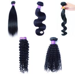 3 Pcs Hair Wefts Malaysian Indian Peruvian Brazilian Mongolian Human Hair Extensions Stright Body Deep Loose Wave Kinky Curly Virgin Hair ? partir de fabricateur