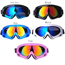 Wholesale Snow Ski Goggles Glasses - Mirrored Skiing Goggle Adult Children UV Protection Outdoor Sport Windproof Glasses Mirror Multicolor Snow Ski Goggles